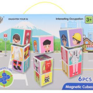 Magnetické kostky postavičky