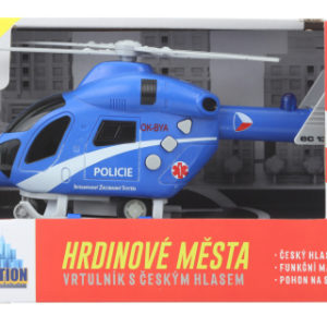 Policejní vrtulník na setrvačník baterie