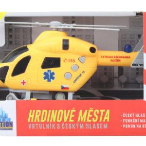 Záchranný vrtulník na setrvačník baterie
