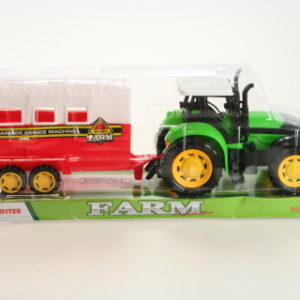 Traktor s přívěsem na koně