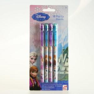 Frozen 4 tužky+guma ve víčku