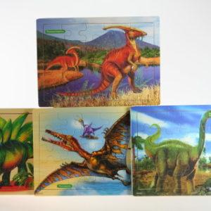 Puzzle dřevěné Dino 25 dílků
