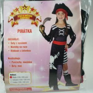 Šaty Pirátka 110 - 120 cm