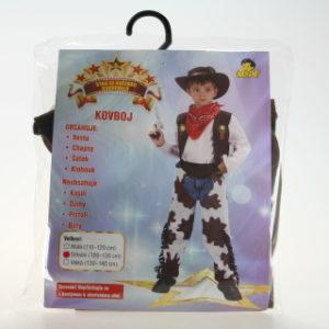 Šaty na karneval - Kovboj, 120-130 cm