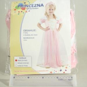 Šaty na karneval - Princezna, 92-104 cm