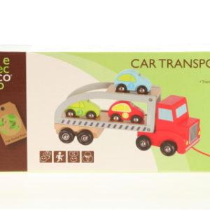 Dřevěný transportér s autičky