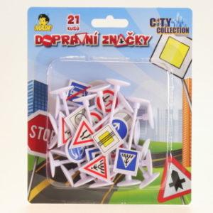 Dopravní značky na kartě 21ks