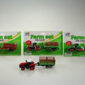 Traktor s přívěsem kovový