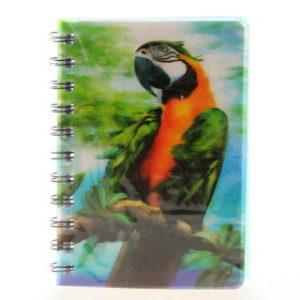 Zápisník papoušek 3D