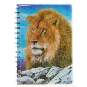 Zápisník lev 3D velký