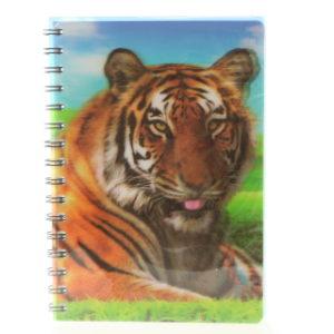 Zápisník tygr 3D velký