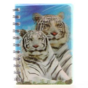 Zápisník bílý tygr 3D