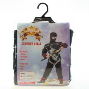 Šaty Stříbrný ninja 120-130cm
