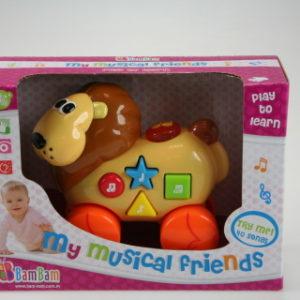 BAM BAM Hudební hračka - lev