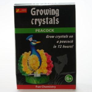 Rostoucí krystaly páv