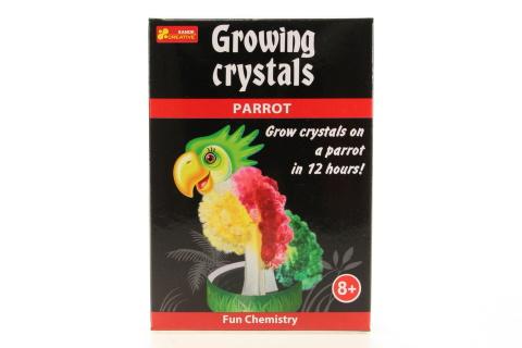 Rostoucí krystaly papoušek