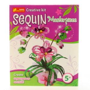 Vytvoř si orchidej z flitrů