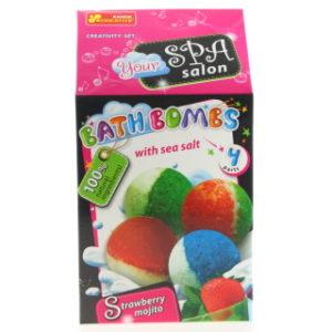 Výroba koupelových bomb - jahodové mojito