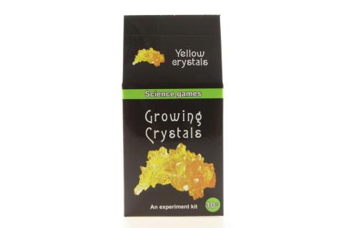 Mini chemická sada - rostoucí krystaly - žluté