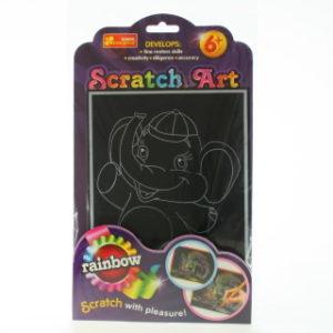 Vyškrabovací obrázek barevný - sloník