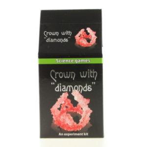 Mini chemická sada krystaly - korunka s diamanty