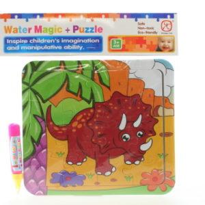 Vodní malování - Dino Triceratops