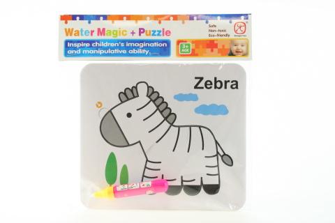 Vodní malování - Zebra
