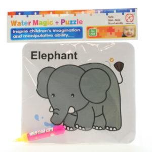 Vodní malování - Slon