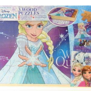 Frozen dřevěné puzzle v boxu