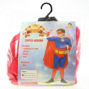 Šaty na karneval - Super hrdina, 120-130 cm