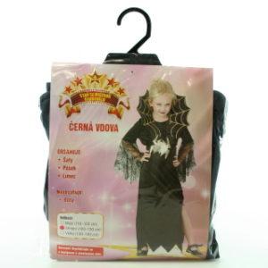 Šaty na karneval - Černá vdova (120 - 130 cm)