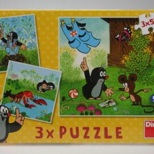 Puzzle Krteček a katlhotky 3 x 55