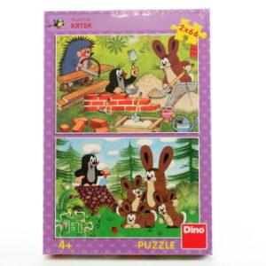 Krtek a zajíci puzzle 2 x 66