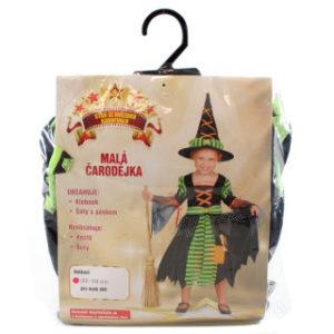 Šaty na karneval - Čarodějka, 92-104 cm