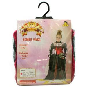 Šaty na karneval - Zombie dívka, 120-130 cm