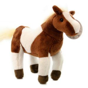Plyš Hnědobílý kůň