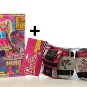Barbie Ve světě her DTW17 + Chrániče na brusle TV 1.3.-30.4.
