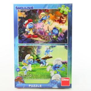 Šmoulové 3: Výprava 2x66 puzzle