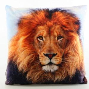 Polštářek fotopotisk lev