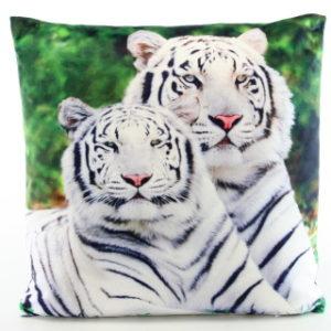 Polštářek fotopotisk bílý tygr