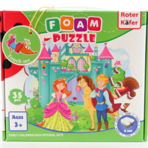 Pěnové puzzle 35 dílků Princ a princezna