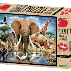 3D Puzzle Afrika 500 dílků