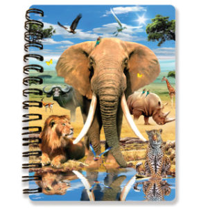 Zápisník A6 Safari 3D