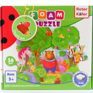 Pěnové puzzle les