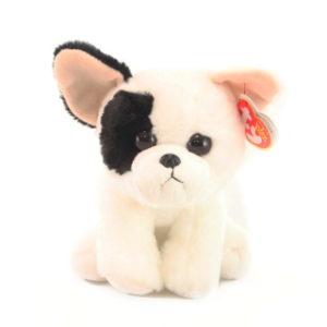 Beanie Babies MARCEL 15 cm - bíločerný pejsek