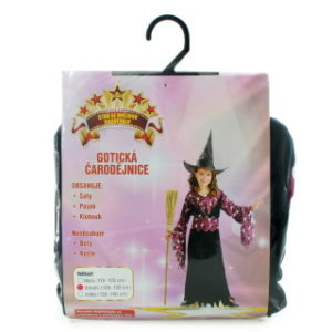 Šaty - Gotická Čarodějka, 120 - 130 cm