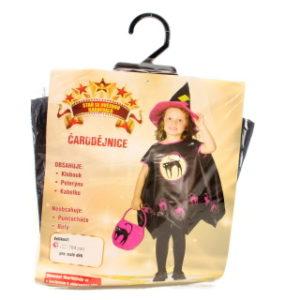 Šaty na karneval - Čarodějnice, 92-104 cm
