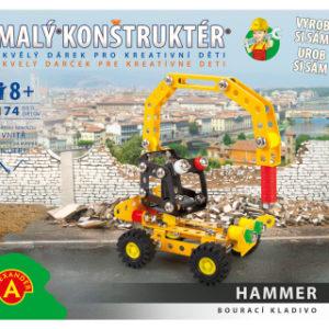 Malý konstruktér - BOURACÍ KLADIVO 174 dílků