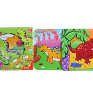 Vodní malování puzzle dinosauři