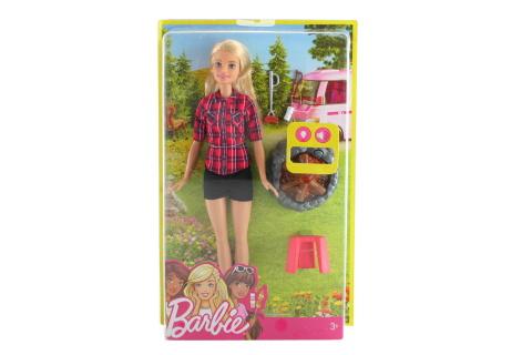Barbie Panenka u táboráku blond FDB43